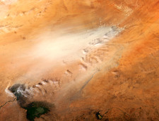 Dust storm, Chad, satellite image