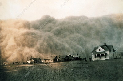 Dust storm, Texas, 18 April 1935