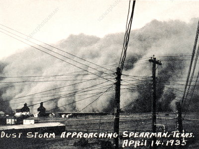 Dust storm, Texas, 14 April 1935