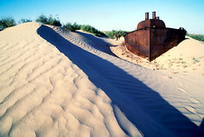 Aral Sea boat stranded by drought