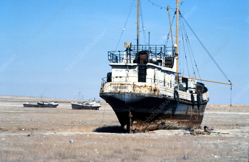 Aral Sea boats stranded by drought