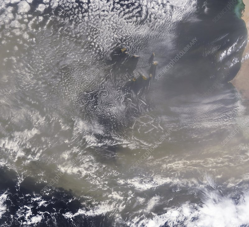 Saharan dust plume off West Africa