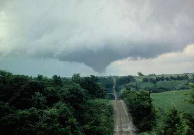 Tornado over Atchinson County, Kansas, USA