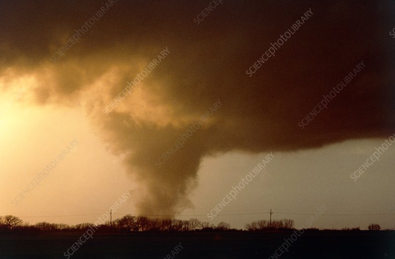 Tornado near Caldwell, Kansas, 13 March 1990