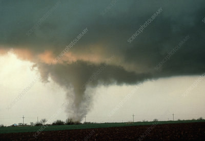 Tornado forming in Sumner county, Kansas USA