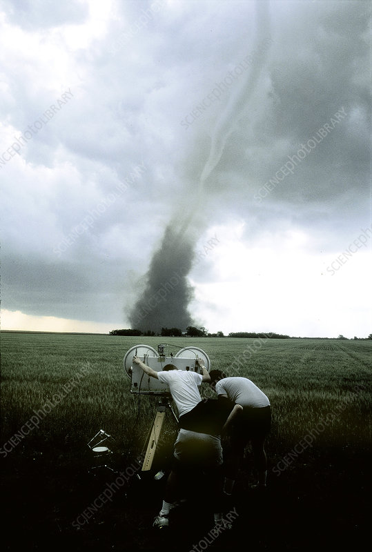 Researchers Tracking a Tornado