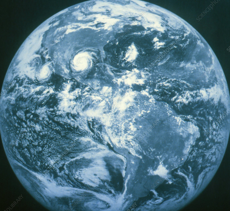 GOES image of weather systems over Earth