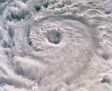 Perspective view of Hurricane Allen from space