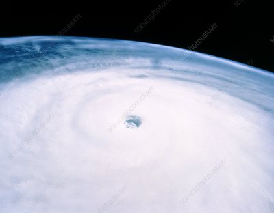 Typhoon Yuri seen from STS-44