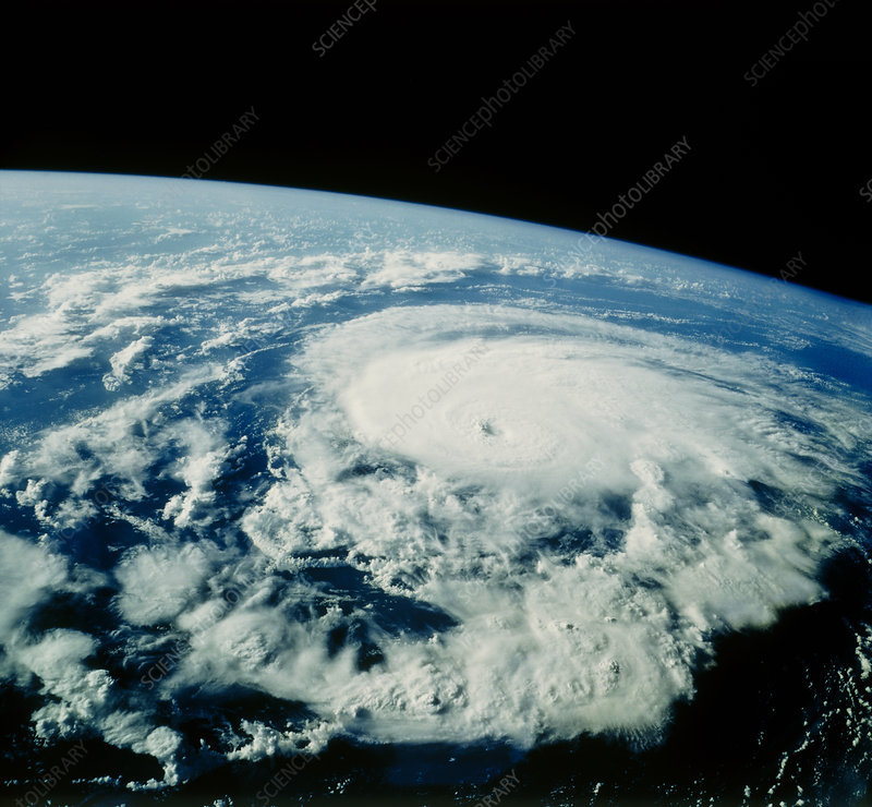Hurricane Bonnie seen from space, STS-47