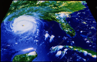 Hurricane Andrew in Gulf of Mexico