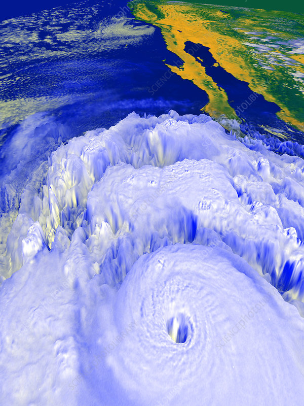 Satellite image of Hurricane Linda