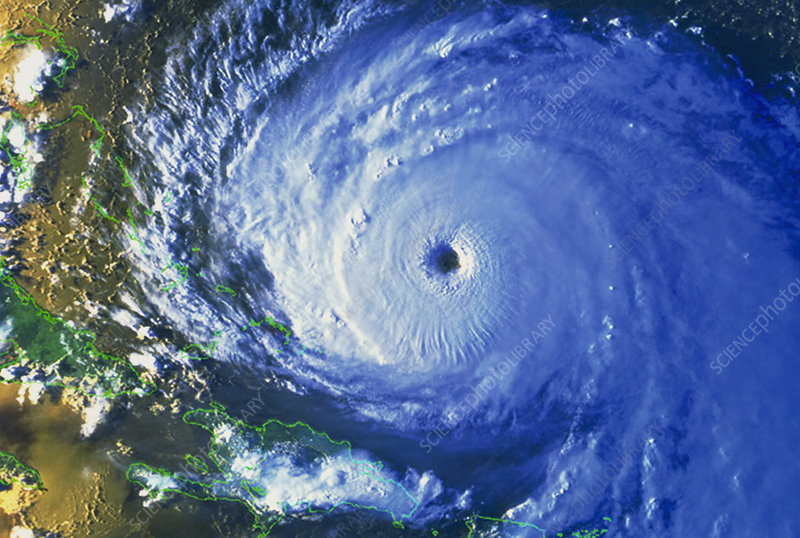 Satellite image of Hurricane Floyd