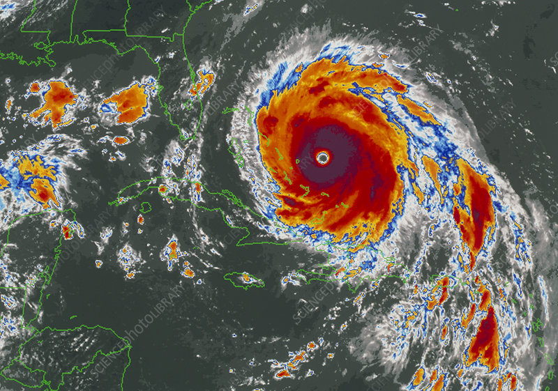 Infrared satellite image of Hurricane Floyd