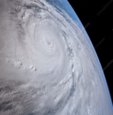 Typhoon Saomai, space shuttle view