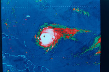 Hurricane Floyd, satellite image