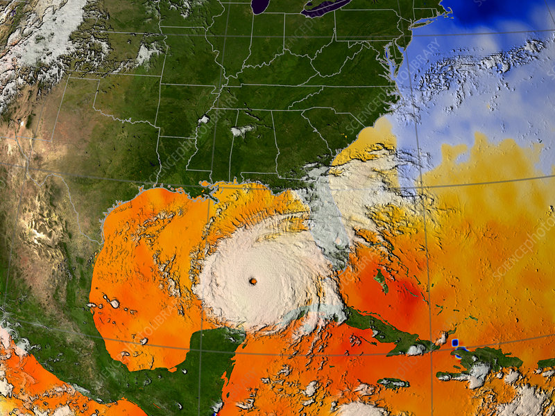 Hurricane Rita, sea temperatures