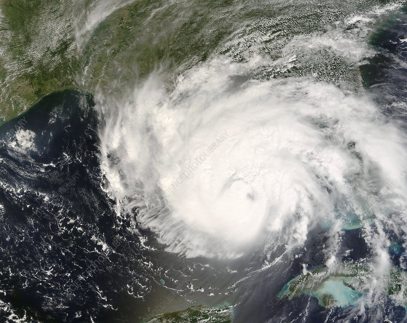 Hurricane Gustav, 31st August 2008
