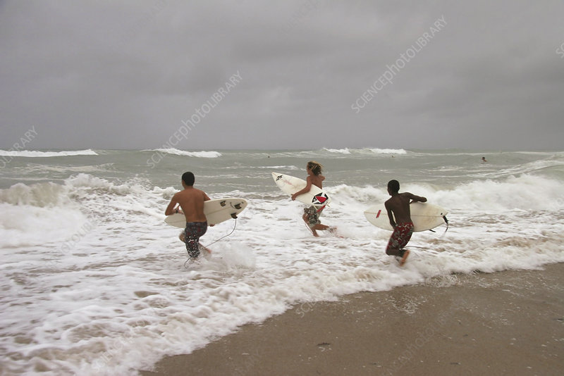 Surfing hurricane Katrina waves