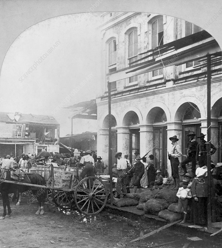 Hurricane aid, Galveston, USA, 1900