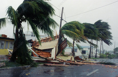 Damage by Hurricane Georges
