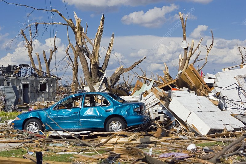 Tornado aftermath, Kansas, USA