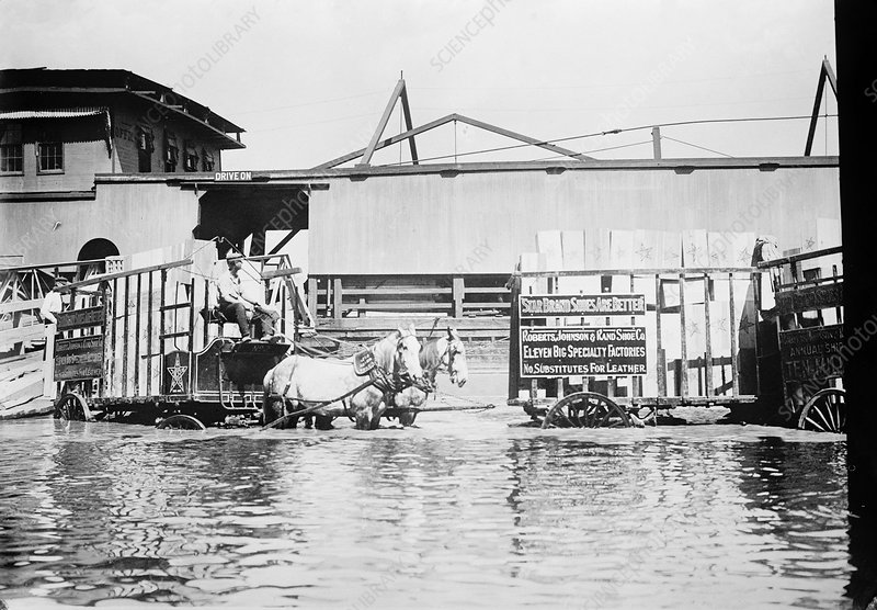 Flooding on the Mississippi River, 1909