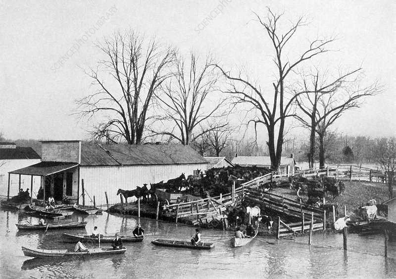 Flooding on the Mississippi River, 1912