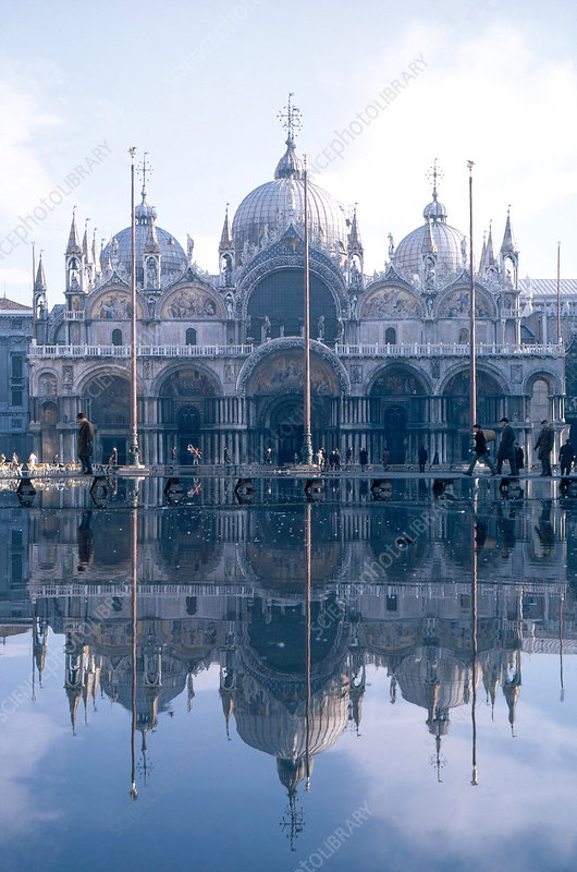 'Flooding in San Marco Square, Italy'