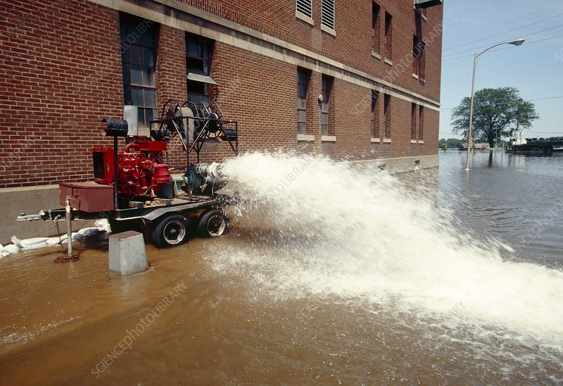 Flooded factory, Iowa
