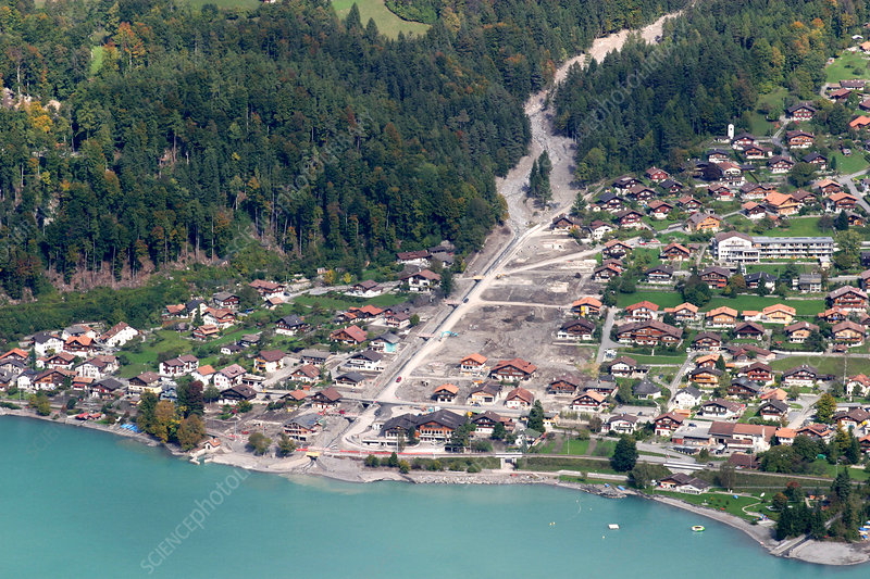 Mudslide in Brienz, Switzerland, 2005