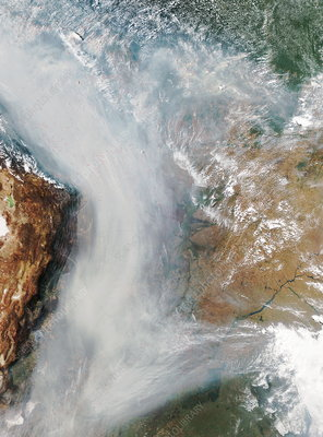 Forest fires in South America