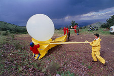 Balloon launch, lightning research