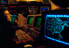 Control room, National Lightning Detection Network