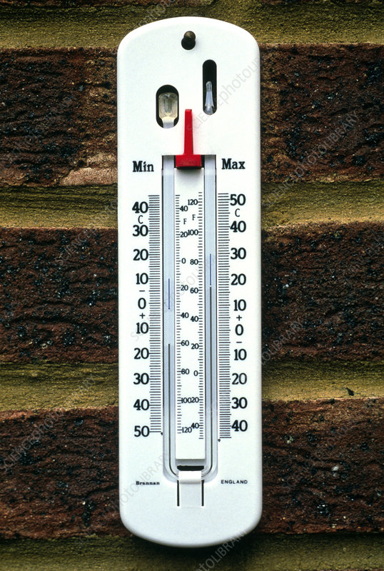Maximum And Minimum Thermometer - Stock Image E180  0301