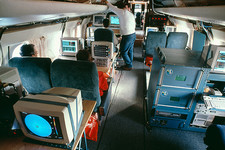 The interior of a FASTEX weather research aircraft