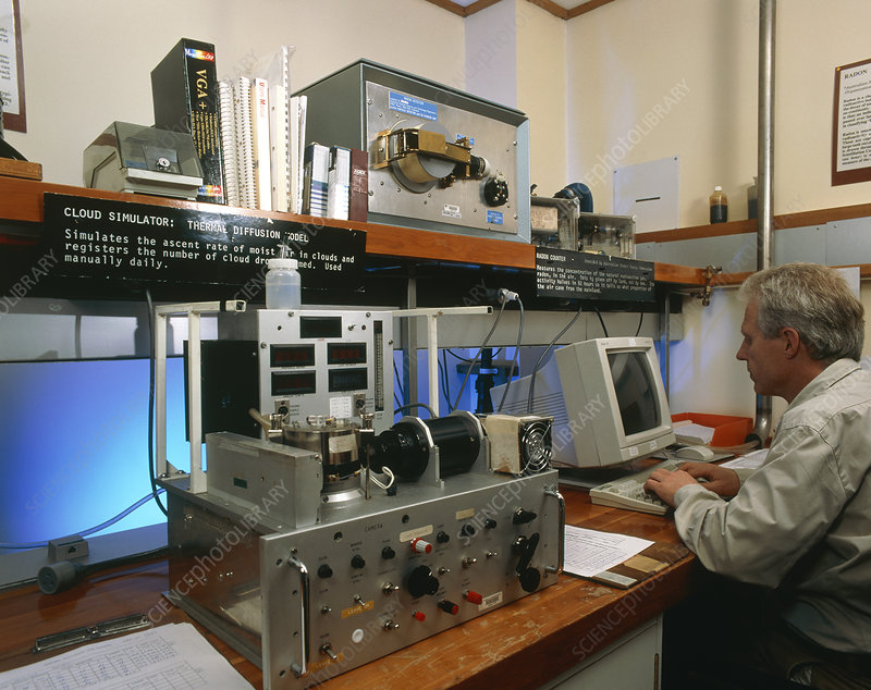 Scientist & equipment used in atmospheric research