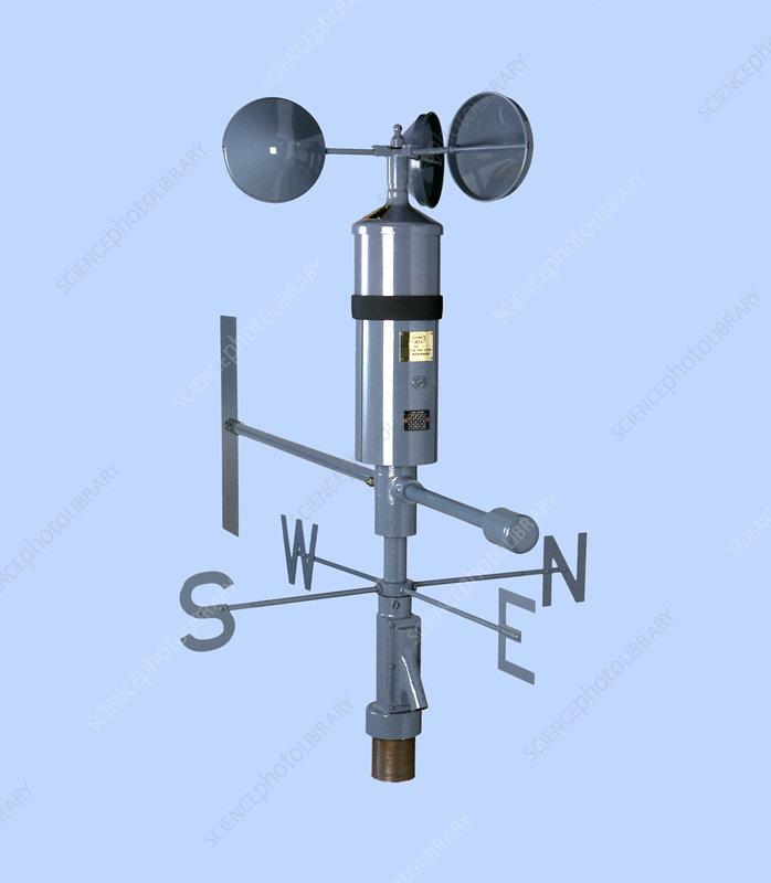 Anemometer And Wind Vane - Stock Image - E180  0458