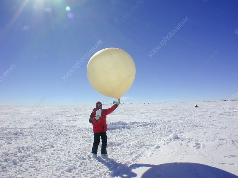 Antarctic weather balloon research