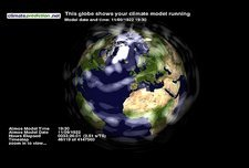 Climate prediction screen saver