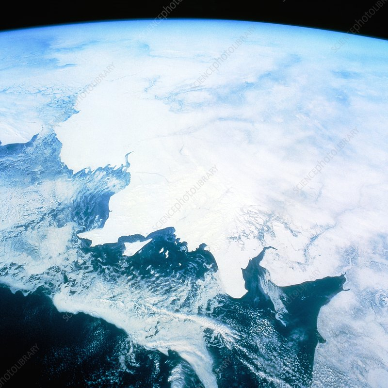 Part of Alaskan coast seen from Shuttle STS-45