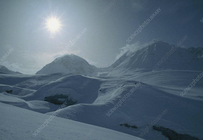 Arctic scene, mountains, Greenland