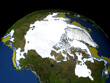 Arctic ice maximum extent, 1979-2006