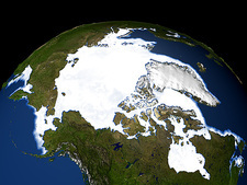 Arctic ice maximum extent, 2006