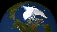 Arctic ice minimum extent, 2007
