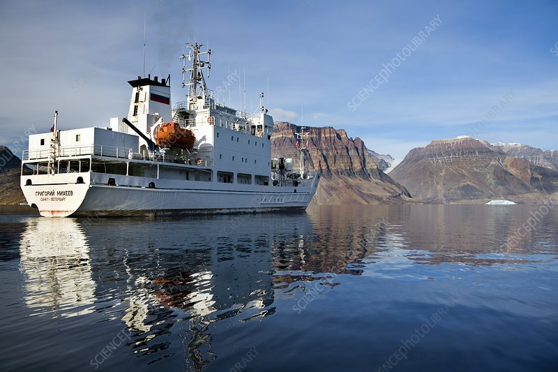 Tourist ship, Flower Bay, Greenland