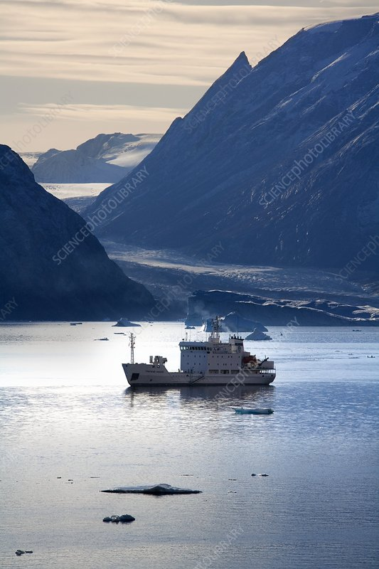 Tourist ship, Northwest Fjord, Greenland