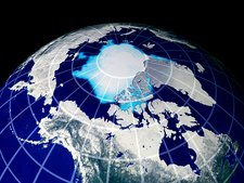 Predicted Arctic ice cover, 2045
