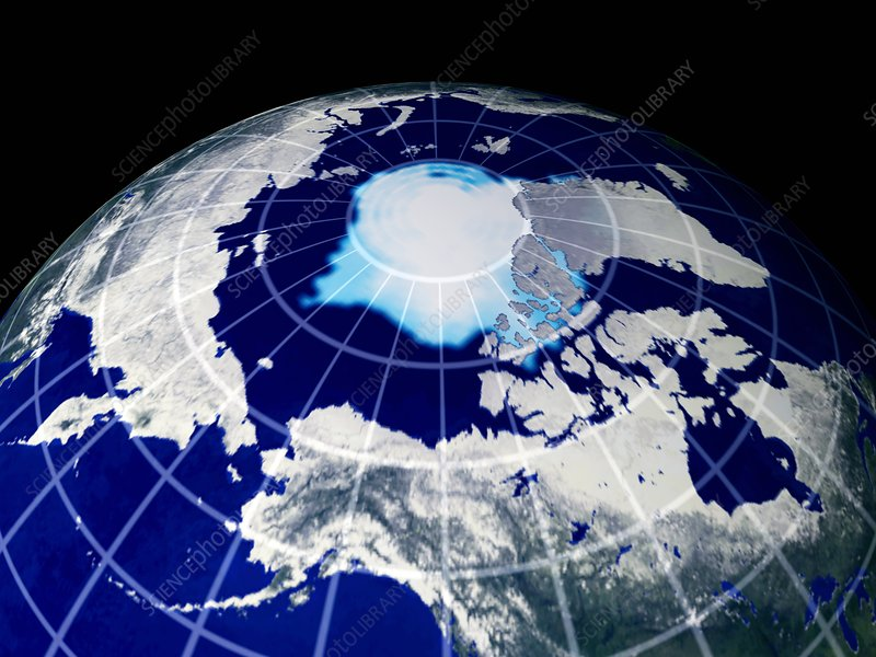 Predicted Arctic ice cover, 2075