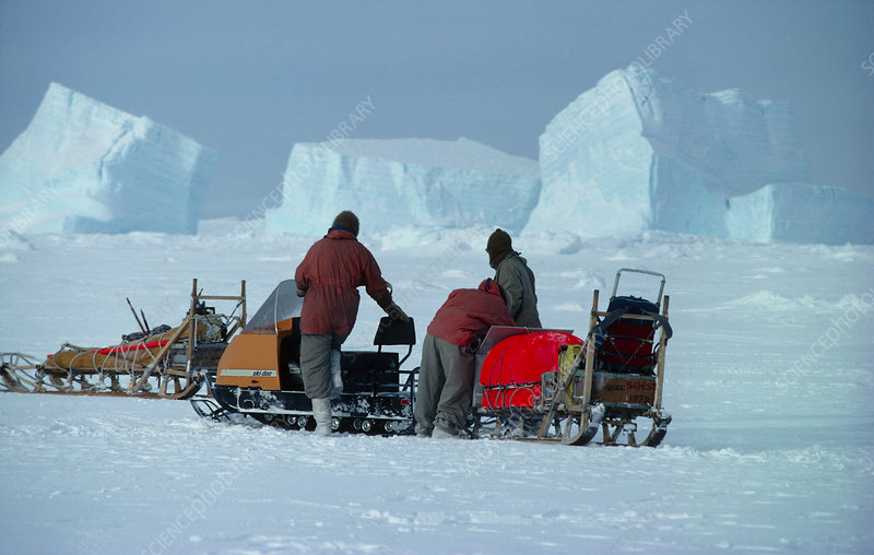 Transport on sea-ice, Antarctica
